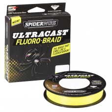 Плетеный шнур Spiderwire Ultracast Fluorobraid Yellow 110m 0,15mm
